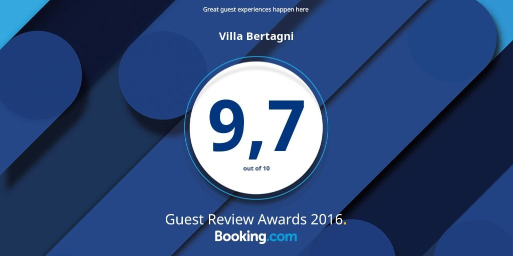 VILLA BERTAGNI GUEST REVIEW AWARDS 2016